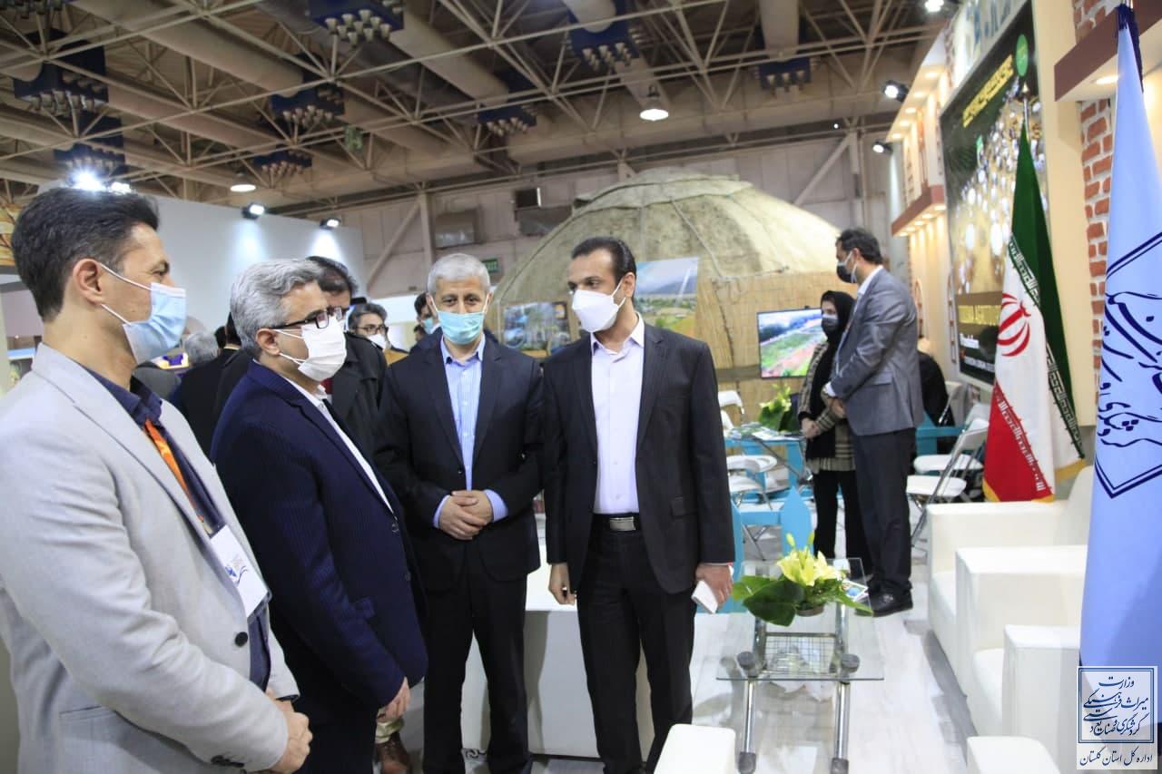بازدید معاون گردشگری کشور از بخش نمایشگاهی استان گلستان در نمایشگاه تهران