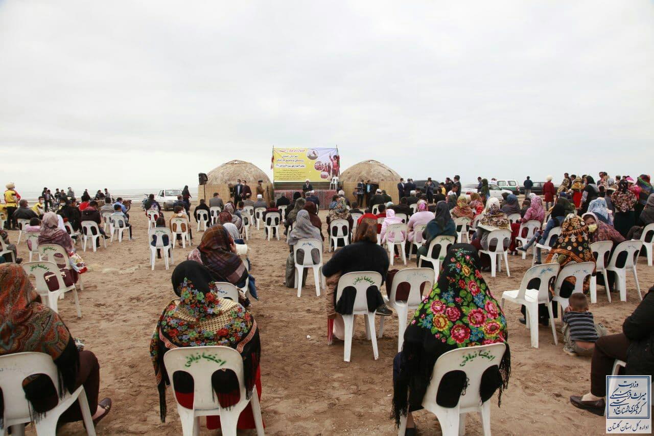 جشنواره نوروزی فرهنگ و اقتصاد در روستای توماجلر گمیشان برگزار شد