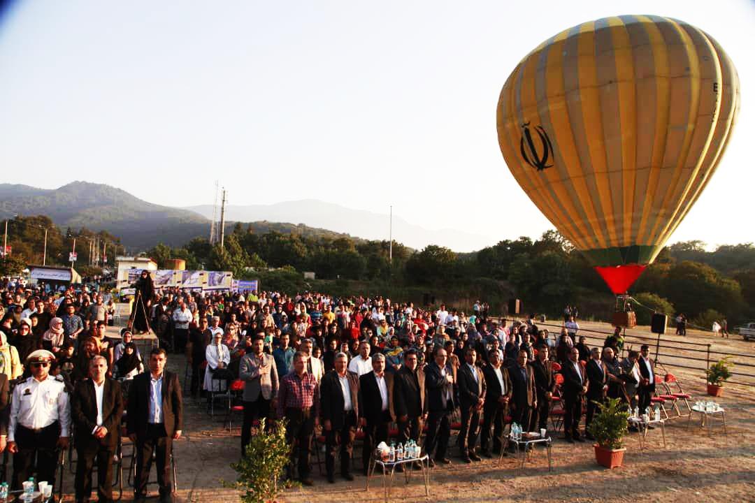 اولین بالن تفریحی گرگان در جشنواره تابستانی هیرکان رونمایی شد