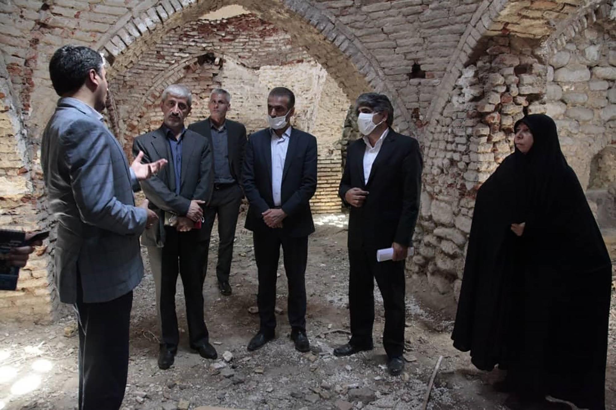 بازدید مدیرعامل صندوق احیا و بهره برداری از بناهای تاریخی از بناهای تاریخی شهرستان رامیان